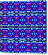 Blue Turquoise And Purple Canvas Print