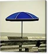Blue Umbrella  Canvas Print