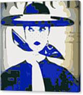 Blue Vogue Canvas Print