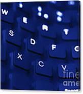 Blue Warped Keyboard Canvas Print