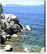 Blue Waters Of Lake Tahoe Canvas Print