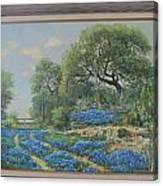 Blue Wildfowers Canvas Print