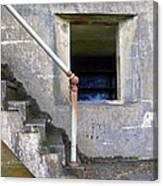 Blue Window Bunker Canvas Print