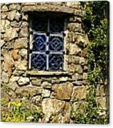 Blue Window Canvas Print