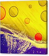Blue Yellow Red Canvas Print
