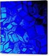 Blue Zinc Canvas Print