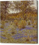 Bluebell Copse Canvas Print
