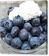 Blueberries And Cottage Cheese Canvas Print