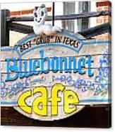 Bluebonnet Cafe Canvas Print