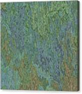 Bluegreen Stone Abstract Canvas Print