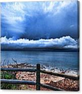 Bluer On The Other Side Canvas Print