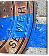Bluer Sewer Three Canvas Print