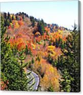 Blueridge Parkway View Near Hwy 215 Canvas Print
