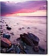 Bluffs Beach Sunset 2 Canvas Print