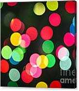 Blurred Christmas Lights Canvas Print