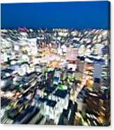 Blurred View Towards An Object Canvas Print