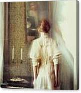 Blurry Image Of A Woman In Vintage Dress  Canvas Print