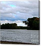 Blustery River  Canvas Print