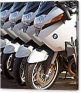 Bmw Police Motorcycles Canvas Print
