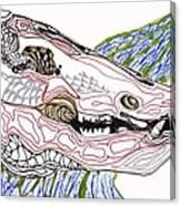 Boar Skull Ink Canvas Print