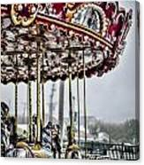 Boardwalk Carousel Canvas Print