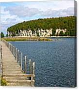 Boardwalk On A Counry Lake Canvas Print
