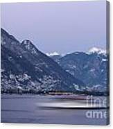 Boat And Alps Canvas Print