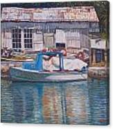 Boat And Shed St. David's Canvas Print