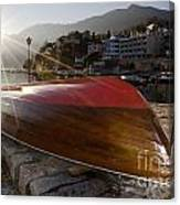 Boat And Sunlight Canvas Print