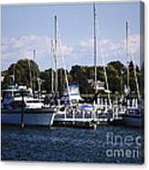 Boat Harbor In Dunkirk New York Canvas Print