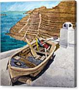 Boat On A Roof Canvas Print