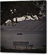 boat on the Lago Maggiore Canvas Print