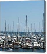 Boat Slips Canvas Print