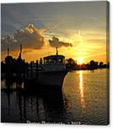 Boat Sunset Canvas Print