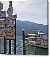 Boat Trip On Lake Maggiore Canvas Print