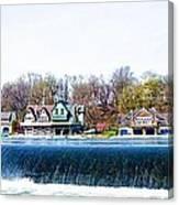 Boathouse Row From Fairmount Dam Canvas Print