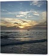 Boating At Sunset Canvas Print