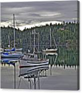 Boating Reflections Canvas Print