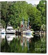 Boats Are In Canvas Print