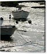 boats at low tide in Cape Cod Canvas Print
