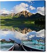 Boats At Pyramid Lake Canvas Print
