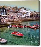 Boats At St Ives  Canvas Print