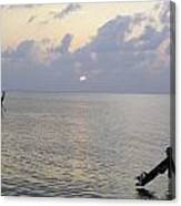 Boats Coming To A Rest For The Day At Sunset In The Lakshadweep Islands Canvas Print