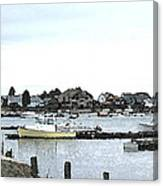Boats In Harbor Water Canvas Print
