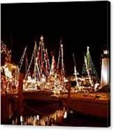 Boats Lighted Canvas Print