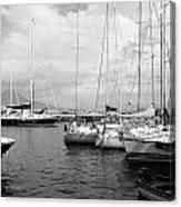 Boats Meeting Canvas Print