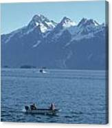 Boats On Alaska's Inside Passage Canvas Print