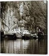 Boats On Halong Bay 1 Canvas Print