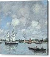 Boats On The Garonne Canvas Print