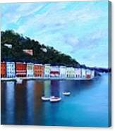 Boats On The Riviera Canvas Print